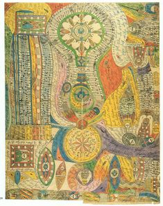 Adolf Wölfli, a psychiatric patient. One of 3000 pages from his illustrated imaginary autobiography.