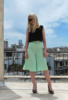 MINT JUPE CULOTTE via tsouknida. Click on the image to see more!
