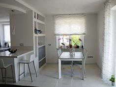 White and grey custom kitchen.