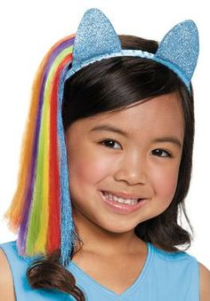 Every girl loves My Little Pony and now we some great new ear headbands that will serve as a perfect accessory to your own little girl's My Little Pony costume. Headband with ears and attached hair ex
