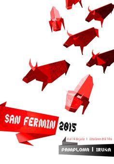 Cartel propuesto para las Fiestas de San Fermin 2015