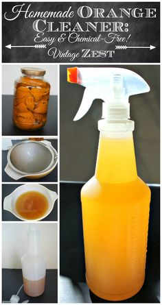 DIY Homemade Orange Cleaner - Easy and Chemical-Free on Vintage Zest