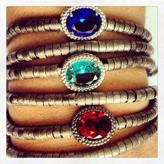 Na dúvida escolha todas!!! #pulseiras #cristal #moda