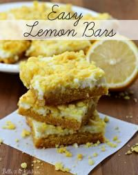 Easy Lemon Cream Cheese Bars. These are  moist and delicious!