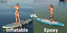 Inflatable versus Epoxy paddle boards