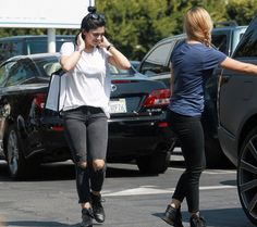 August 7, 2014 - Kylie Jenner shopping in Hollywood.