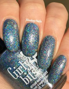 ehmkay nails: Girly Bits Glass Scale Dragon