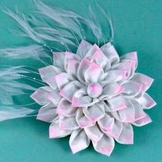 Kanzashi Flower Fascinator Pattern Tutorial - by La Todera