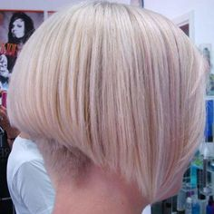 Short Bob Haircuts Pictures LOVE the cut! But I wonder if u could still wear hear bands ( not just to accessorize, to pull it back out of my face )! And how often would the upkeep be on the shaved nape of the neck? I normaly only get my hair trimmed every 3 mth.'s! Hmm....