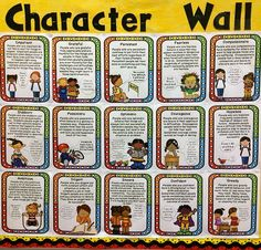 Character Traits - This character traits products includes 40 of these posters and corresponding printables for a full year of character study (one trait per week)!