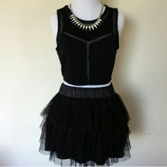 Black Tutu Black fun tutu. Great for a night out or Costume Worn Once Black Tutu Smoke Fee Home No Signs of Wear or Tear Charlotte Russe Skirts Mini