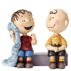 4054081 Sage Advice (Charlie Brown and Linus)- Charlie Brown and Linus discuss the meaning of life, and the importance of blue blankets #friends #jimshore #peanuts
