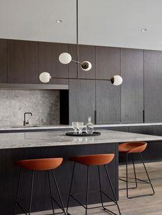 Kitchen Ceres Gable House By Tecture Est Living Farmhouse Style Kitchen, Modern Farmhouse Kitchens, Rustic Kitchen, Cool Kitchens, Modern Kitchen Interiors, Modern Kitchen Design, Interior Design Kitchen, Interior Ideas, Coastal Interior