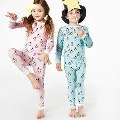 BedHead Penguins on Parade Blue Stretch Long Sleeve Kids Pajamas #laylagrayce