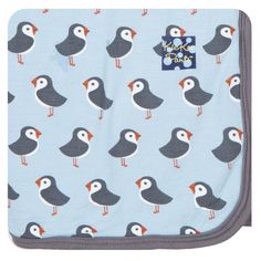 KicKee Pants Bamboo Blanket - Pond Puffin Available at www.pumpkinpiekids.com