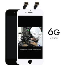 50pcs Mobile phone clone for iphone 6 LCD Display+Touch Digitizer Screen Assembly Black  DHL Ship+camera holder