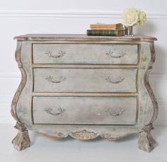 Petite Parisian Bombe Chest. $692 [Sweet Pea and Willow]