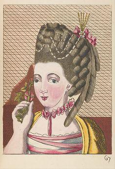 L'art de la coëffure des dames françoises, avec des estampes : où sont représentées les têtes coëffées, gravées sur les dessins originaux de mes accommodages, avec le traité en abrégé d'entretenir & conserver les cheveux naturels
