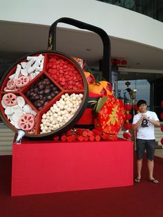 Happy Chinese New Year!! A CNY decoration at the main entrance of Gurney Plaza, Penang