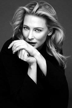 "l-o-t-r: ""Well, Cate Blanchett. Her husband doesn't know but she and I are goi. - l-o-t-r: ""Well, Cate Blanchett. Her husband doesn't know but she and I are going to get married - Cate Blanchett, Ian Mckellen, Photographie Portrait Inspiration, Beautiful People, Beautiful Women, Celebrity Portraits, Black And White Portraits, Female Portrait, Classic Beauty"