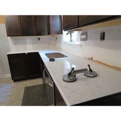 My Kitchen Remodel | Cambria Torquay Quartz Countertops | Brown Espresso  Dark Wood Kitchen Cabinets |