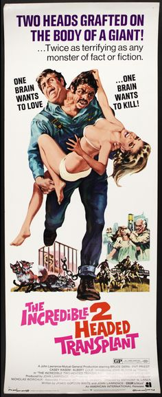 The Incredible Two Headed Transplant -  1971 C 88 Min