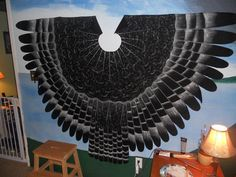 Owl Eagle Bird Wings Cloak Hand Painted Halloween Cosplay