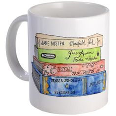 Emily Norton Illustration: Jane Austen Books Mug: Jane Austen might be best appreciated while sipping a proper cuppa' tea. This is the perfect accessory for any Austen fan! Jane Austen Books, Very Clever, I Love Books, Mug Designs, Book Nerd, Picture Quotes, Book Lovers, Book Worms, Writing