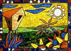 Paz del Campo ~ by Oscar Ortiz - Painter Puertorriqueño