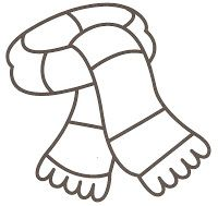 Stocking hat coloring page Winter activities Pinterest