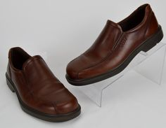 Ecco 43 Men's Brown Leather Loafers US Size 9-9.5 M #ECCO #LoafersSlipOns