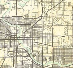 EUCLID OH Canvas Print Ohio OH Vintage Map Euclid Oh City Map - South bend map