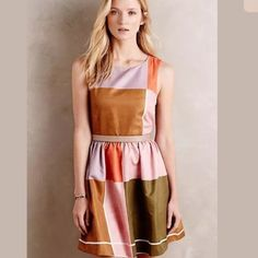 Dear Creatures Color Block Dress New with tags. Purchased the wrong size. ModCloth Dresses