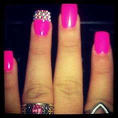 think pink, breast cancer nails.
