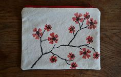 pouch stamp cherry blossom