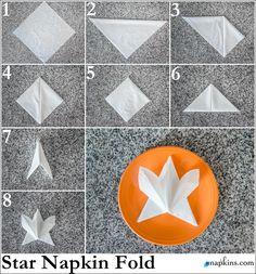 Star Napkin Fold