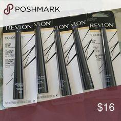 5 REVLON COLORSTAY LIQUID LINER Brand new 251 blackest black Revlon Makeup Eyeliner