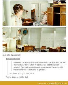 Leonardo DiCaprio in Titanic. Poor man needs his Oscar already Funny Tumblr Posts, My Tumblr, Marvel Dc, Funny Memes, Jokes, Funny Quotes, Raining Men, Cinema, Just For Laughs