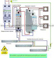 Esquemas eléctricos: Telerruptor mas contactor esquema