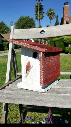 Cage à oiseau rustique maison doiseau unique volière