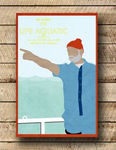 The Life Aquatic 11 x 17 movie poster by Printwolf on Etsy, $17.00
