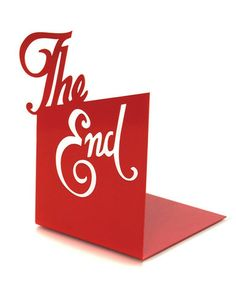 Typographic Bookend- The End