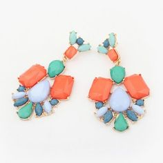 Cheap Wholesale Bohemian Gem Decorated Irregular Geometric Drop Earrings (COLOR ASSORTED) At Price 3.39 - DressLily.com
