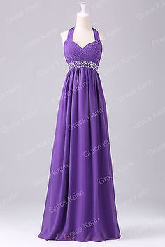 PLUS SIZE Purple Long Evening Formal Party Dresses Bridesmaid Prom Gown Dresses