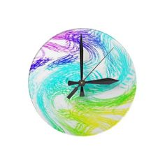 Clock multicolored traces multicolored abstractly