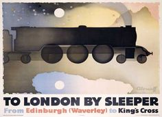 Night Scotsman London Sleeper Train LNER Poster