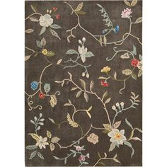 """Nourison Hand-tufted Contours Brown Rug (8' x 10'6)   Overstock.com   3/4"""" pile height, polyester fiber   385.99"""