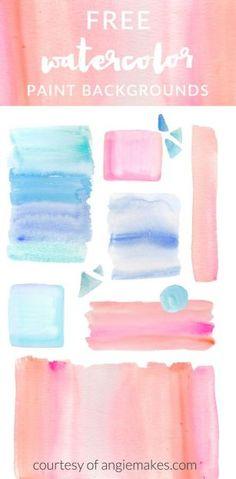 Free Ombre Watercolor Backgrounds Clip Art Design Elements   angiemakes.com