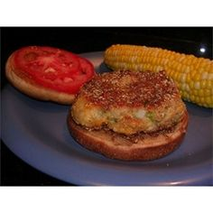 Butter beans mashed and combined with onion, jalapeno pepper, cracker crumbs, egg, and cheese, then shaped and fried into vegetarian burgers. You can substitute bell pepper for the jalapenos for a milder taste.