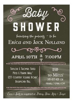 A baby girl is on the way. It's time to shower the mother to be with love. This Chalkboard Baby Shower Pink Sign Invitation from Picture Perfect is a stellar was to start. Chalkboard patterns are trendy and easy to coordinate shower decorations with. Enjoy the accents of pink that make this card a hit. You guests will be excited to RSVP. While this is printed on a digital press, it is not considered a digital invitation. It's not available for download. You will get hooked on the cuteness…